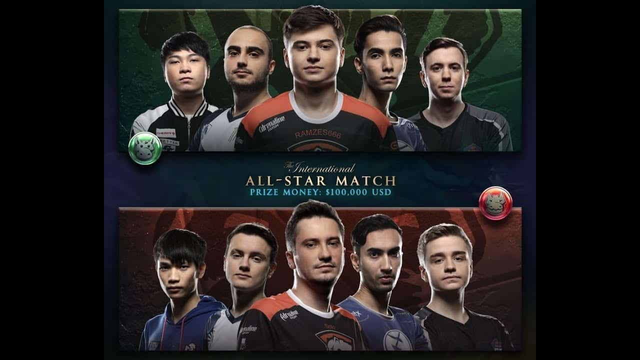 dota 2 all star match up